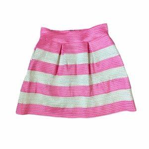 4/$25 Aniina Pink Striped Mini Skirt Size M
